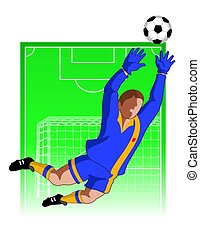 football / soccer goal keeper male
