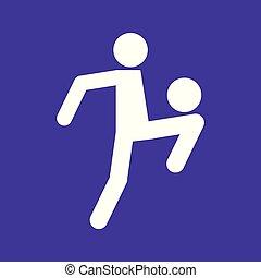 Football Soccer Juggling Sport Figure Symbol Vector Illustration Graphic