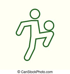 Football Soccer Juggling Sport Outline Figure Symbol Vector Illustration