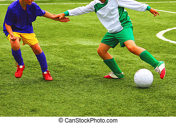 football soccer match for children