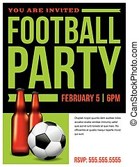 Football Soccer Party Flyer