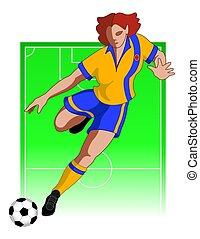 football / soccer player female