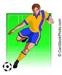 football / soccer player male