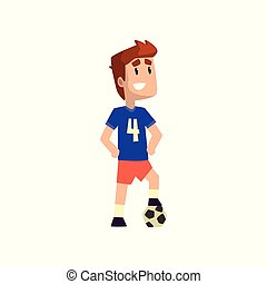 Football soccer player vector Illustration on a white background