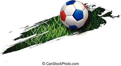 Football Soccer Poster Banner Template Vector Illustration