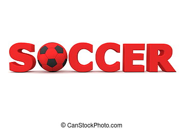 Football Soccer Red