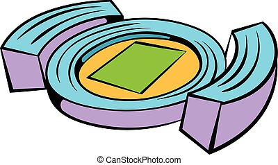 Football soccer stadium icon, icon cartoon