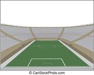 Football Soccer Stadium Vector