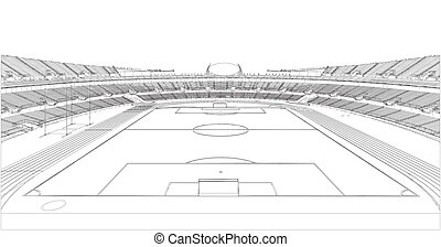Football Soccer Stadium Vector