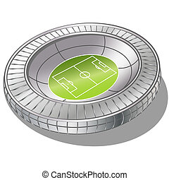 Stadium - Football Soccer Stadium Vector . gradient mash
