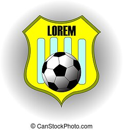 Football soccer yellow team logo with text