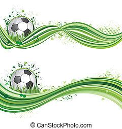football, sport, concevoir élément