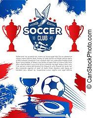 Football sport game banner for soccer club design