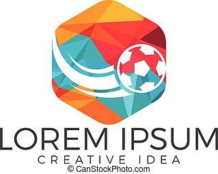 Football sport logo vector design template.