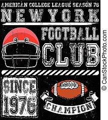 Football sport typography; t-shirt graphics; vectors