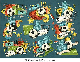 football, sports, éléments
