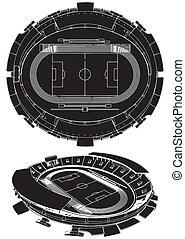 football, stade, football