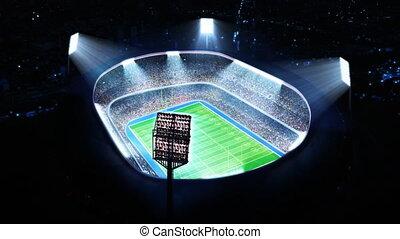 football, stadium., américain