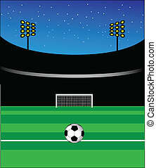 Football stadium - Empty stadium vector artwork