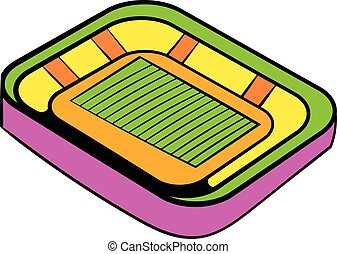 Football stadium icon, icon cartoon