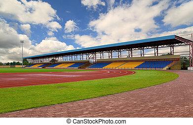 Football stadium in the city of Orsha, Belarus
