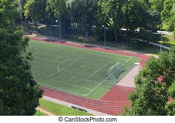 football stadium in the park