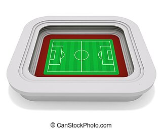 Football stadium - 3D rendering of a football (soccer)...