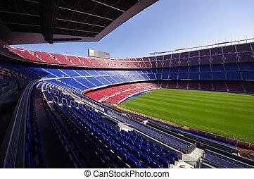 football stadium - wide view of FC Barcelona (Nou Camp)...