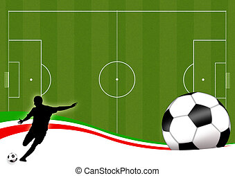 Football - Wallpaper background with man silhouettes playing...