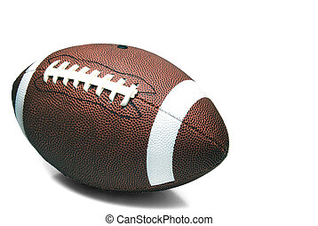 Football - An American football ready for sports action.