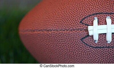 Football - Leather football video slide.