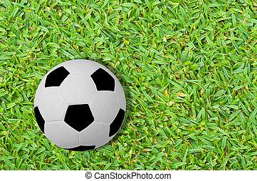 football, su, il, erba verde, campo