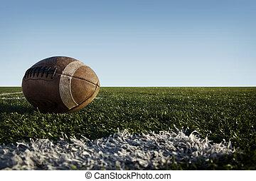 football, sur, champ