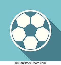 Football symbol flat design vector blue internet icon