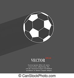 football symbol Flat modern web design with long shadow and space for your text. Vector