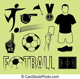 Football symbol set