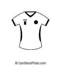 Football t-shirt black simple icon