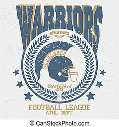 Football t-shirt Spartan Warrior