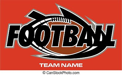 football team design with ball for school, college or league