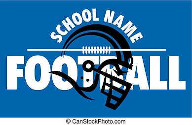 football team design with helmet and laces for school,...
