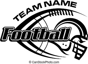 football team design with laces and helmet for school, ...