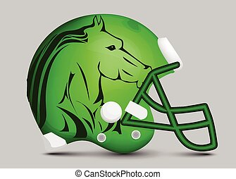 Football team helmet