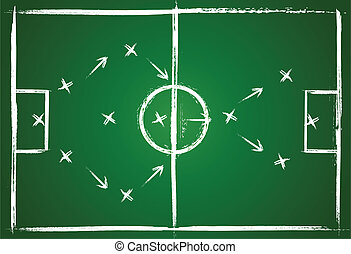Football teamwork strategy. Illustration game. Vector...