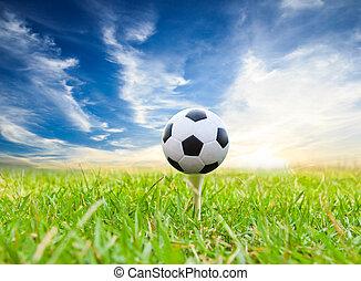 football, tee golf, balle