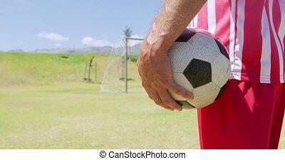 football, tenir boule, joueur