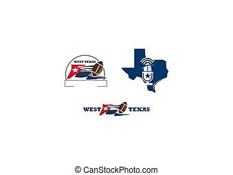 football, texas, sagoma