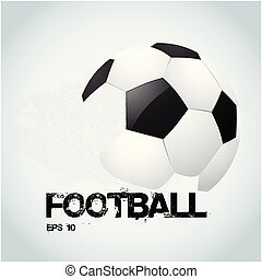 Football Text Football White Background Vector Image