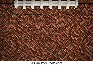 Football Texture with Seams