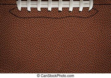 Football Texture with Seams - Flat, American football...