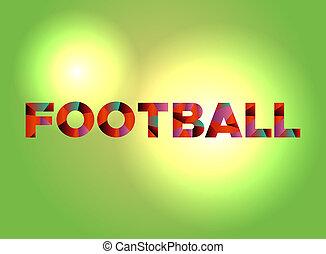 Football Theme Word Art Illustration